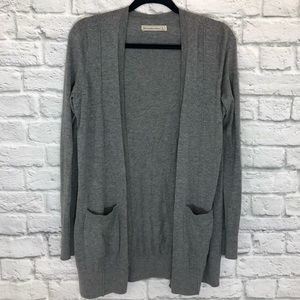 Abercrombie & Fitch Gray Long Sleeve Cardigan